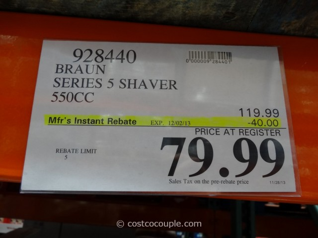 Braun Series 5 Shaver System Costco 2