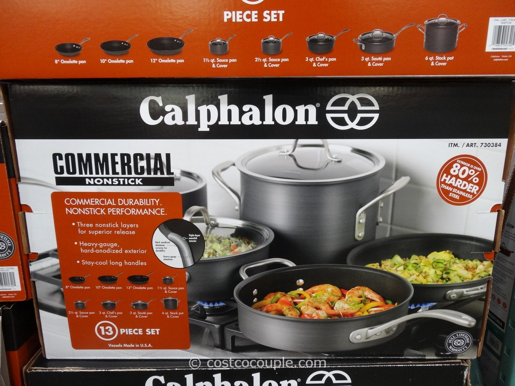 Calphalon 13Pc Commercial Hard Anodized Cookware Set Costco 2
