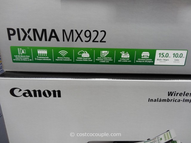 Canon Pixma Wireless All-In-One Inkjet MX922 Costco 4