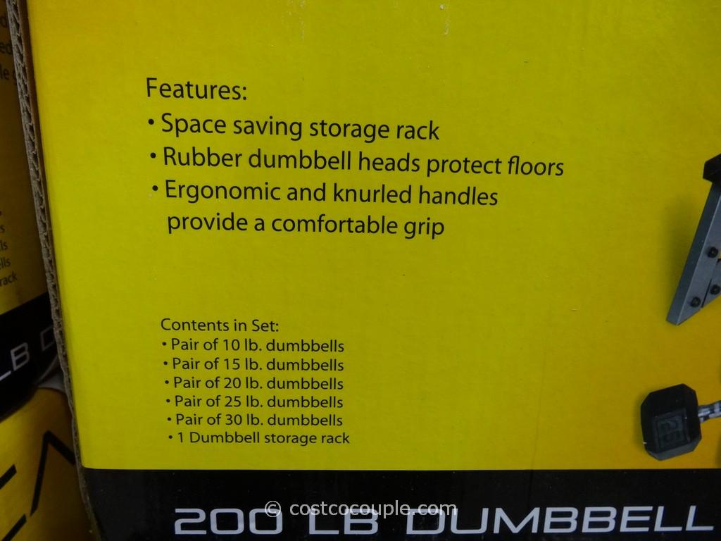 Cap 200 Lb Dumbbell Set With Rack