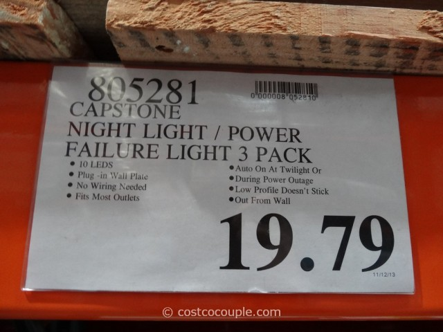 Capstone Night Light Power Failure Light Costco 1