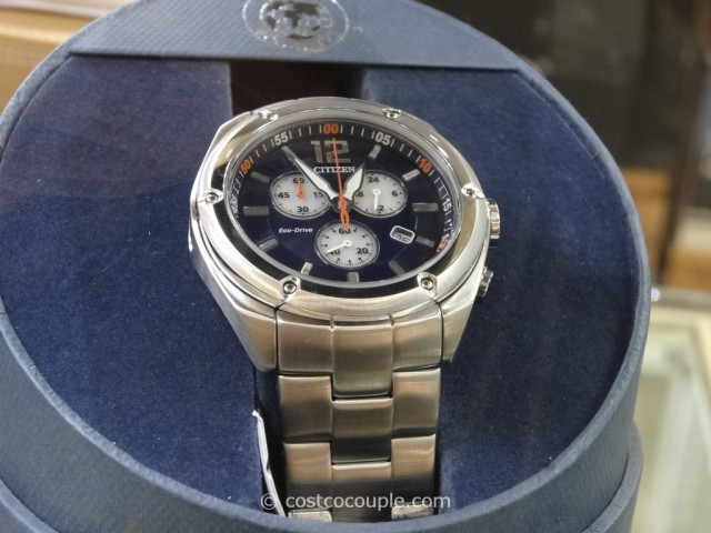 Citizen Blue and White Chronograph Watch Costco 1