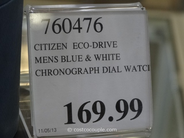 Citizen Blue and White Chronograph Watch Costco 3