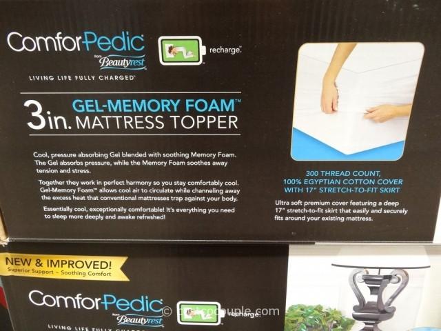 Comforpedic 3-Inch Gel Memory Foam Mattress Topper Costco 4