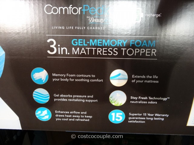 Comforpedic 3 Inch Gel Memory Foam Mattress Topper