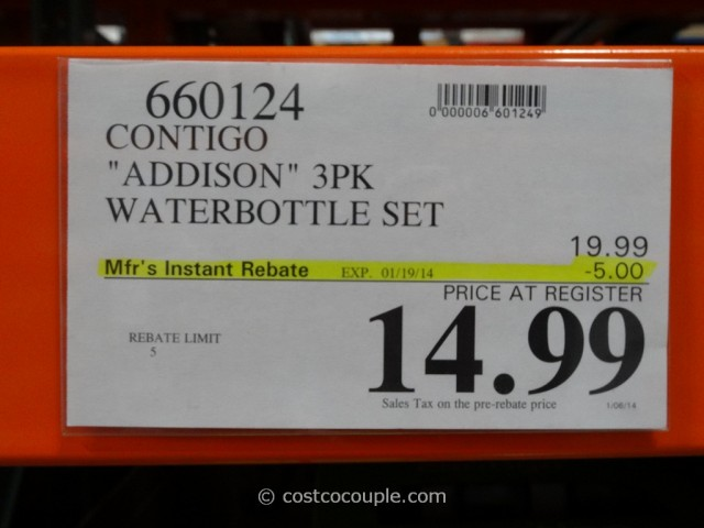 Contigo Addison Waterbottle Set Costco