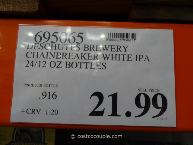 Deschutes Brewery Chainbreaker White IPA Costco 1