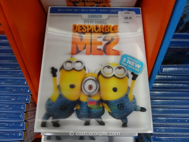 Despicable Me 2 Blu-Ray 3D + Blu-Ray + DVD + Digital HD Costco 2