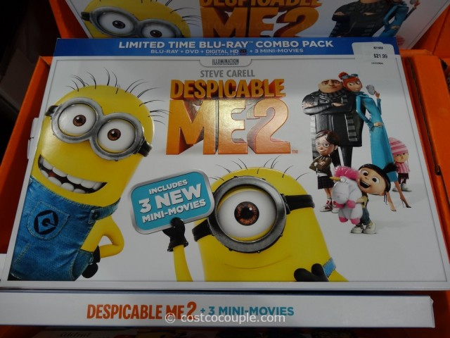 Despicable Me 2  Limited Time Blu-Ray Combo Pack with Blu-Ray + DVD + Digital HD + 3 New Mini Movies Costco 8