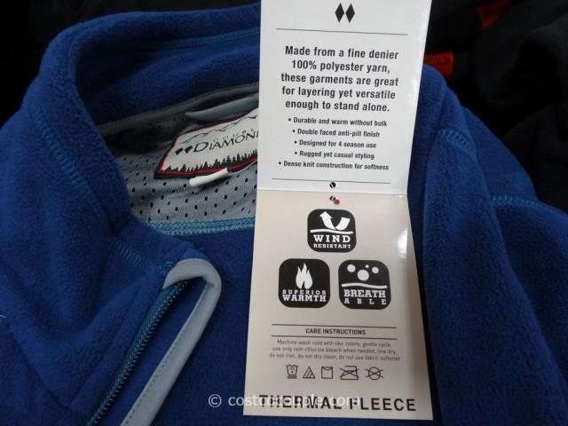 Double Diamond Thermal Fleece Jacket Costco 2