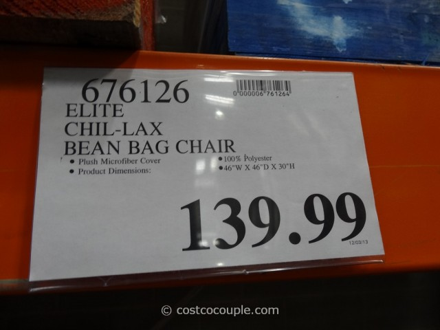 Elite Chil-Lax Bean Bag Chair Costco 6