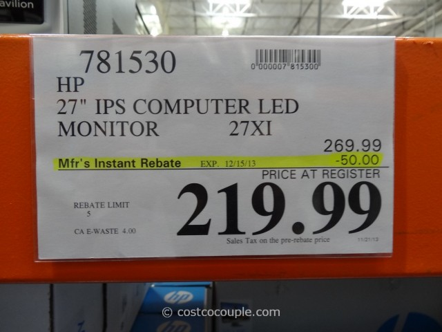 HP 27-Inch IPS LED Monitor Costco 6