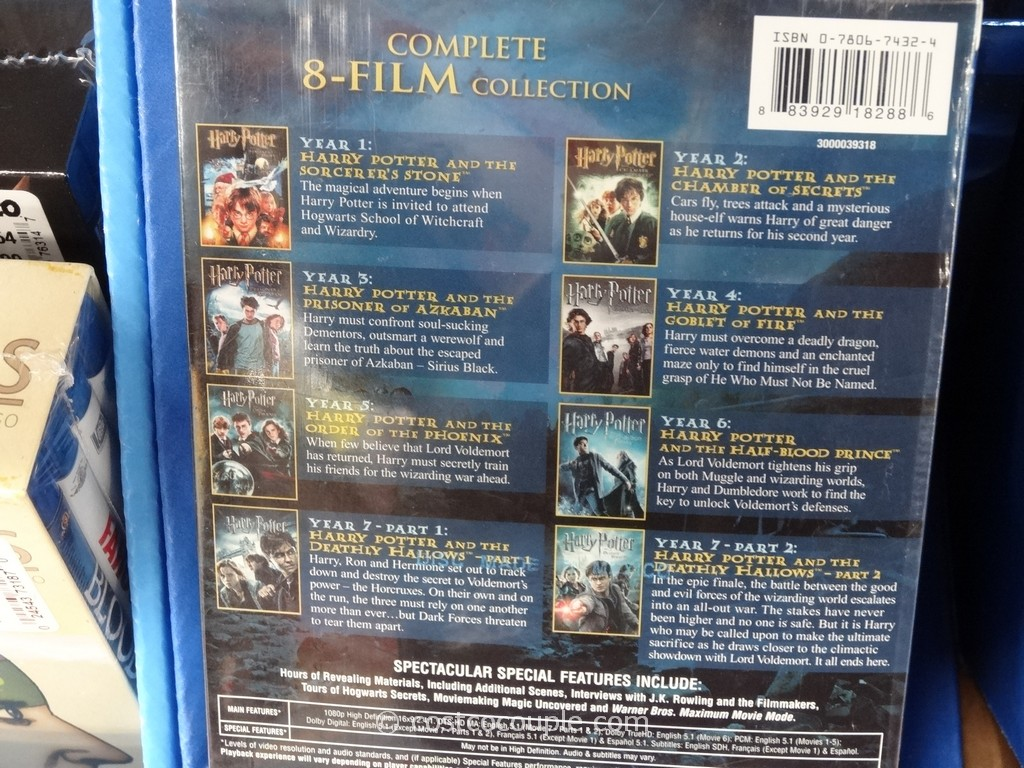 Harry Potter 8 Film Collection Set