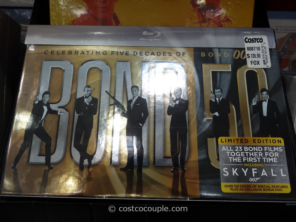 James Bond 50 Years Limited Edition Blu-Ray Collection Costco 2