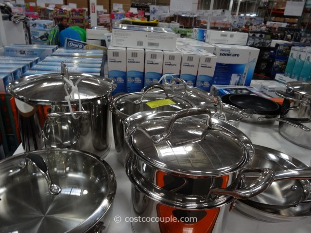 Kirkland Signature 13Pc Stainless Steel Cookware Set Costco 2