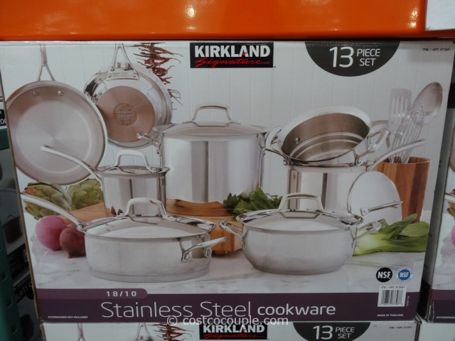 Kirkland Signature 13Pc Stainless Steel Cookware Set Costco 4