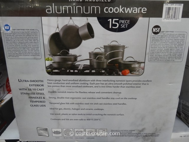 Kirkland Signature 15Pc Hard Anodized Cookware Set Costco 5