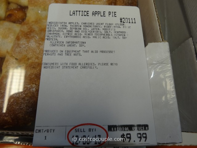 Kirkland Signature Lattice Apple Pie Costco 1