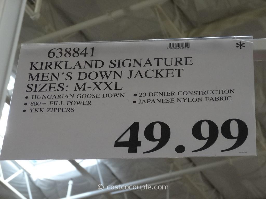 Kirkland Signature Men S 800 Fill Down Jacket