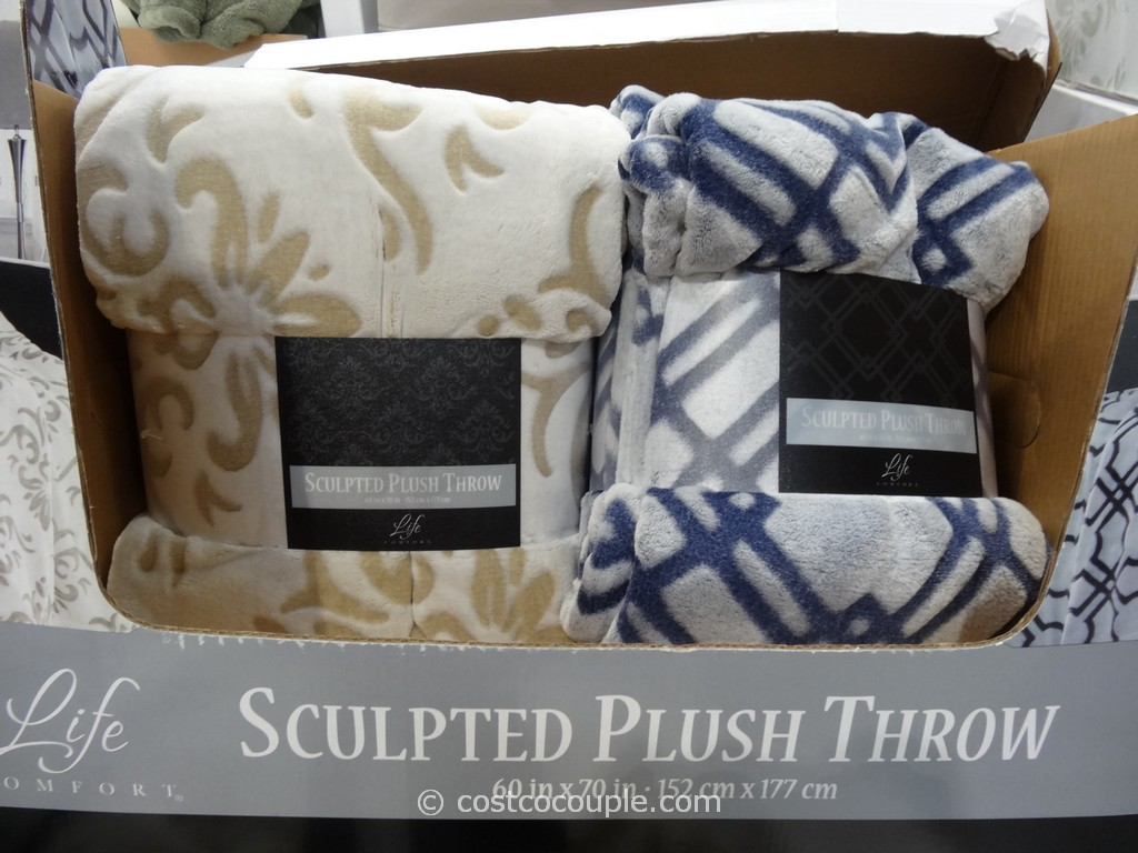 Life Comfort Sculpted Plush Throw