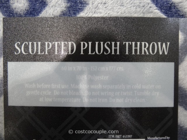 Life Comfort Sculpted Plush Throw Costco 5