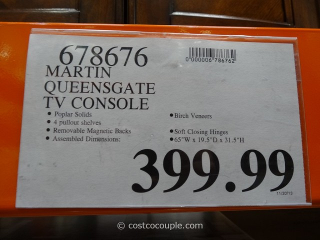 Martin Queensgate TV Console Costco 1