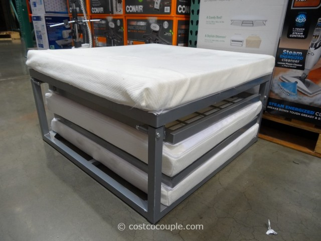 Folding Foam Mattress Costco Completely folded, this item functions as an ottoman with the included ...
