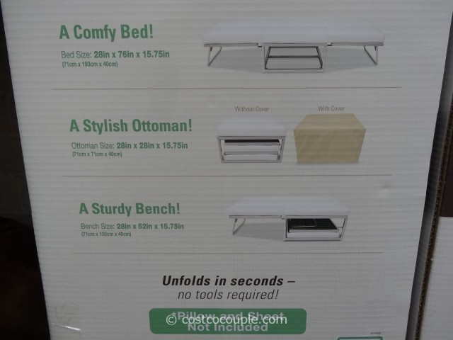 Novaform Stowaway Folding Bed Costco 5