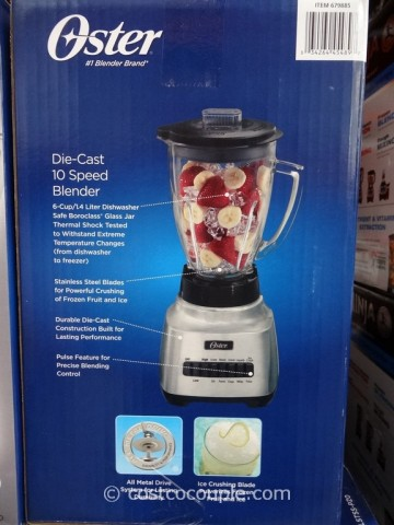 Oster Die Cast 10-Speed Blender Costco 3