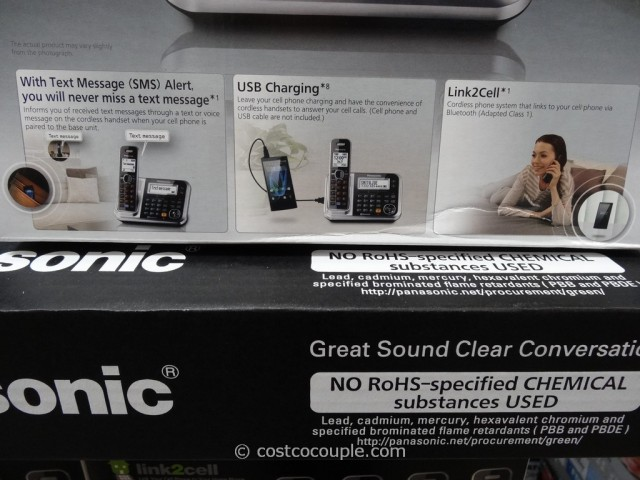 Panasonic Dect 6 Plus KX-TG385SK Costco 3