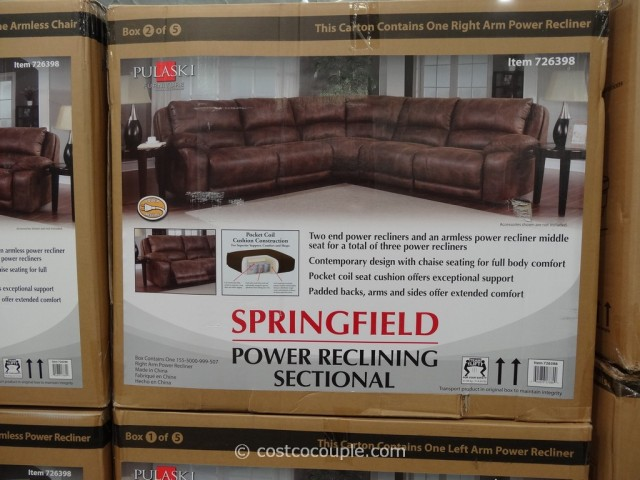 Pulaski Springfield Power Reclining Sectional Costco 1