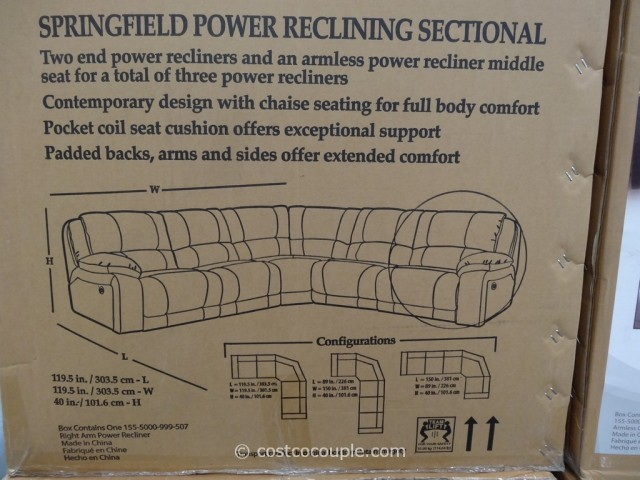 Pulaski Springfield Power Reclining Sectional Costco 4