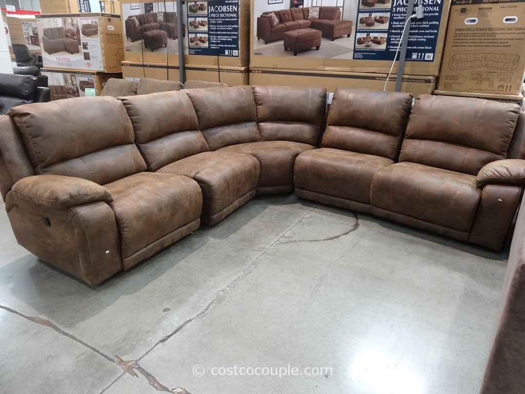 pulaski springfield power reclining sectional rh costcocouple com Costco Leather Sofa Costco Pulaski Furniture
