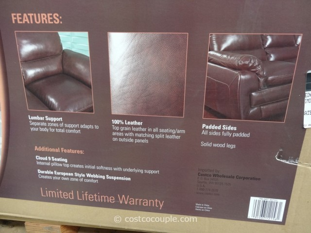 Simon Li Leonardo Leather Loveseat Costco 2