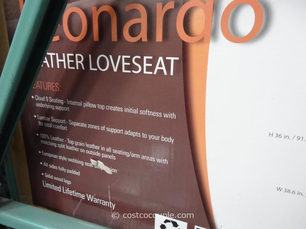 Simon Li Leonardo Leather Loveseat