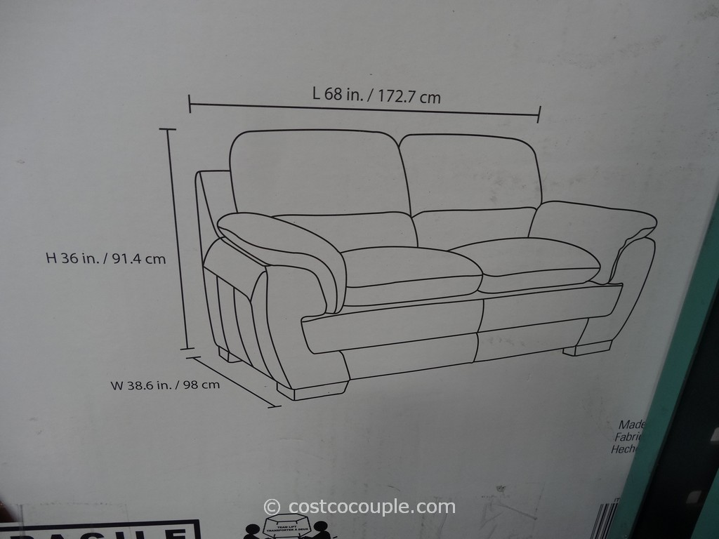 Simon Li Leonardo Leather Loveseat