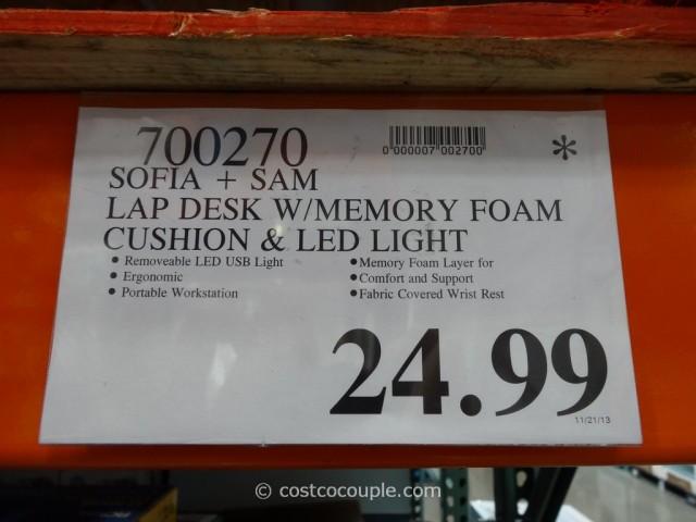 Sofia And Sam Memory Foam Lap Desk Costco 4