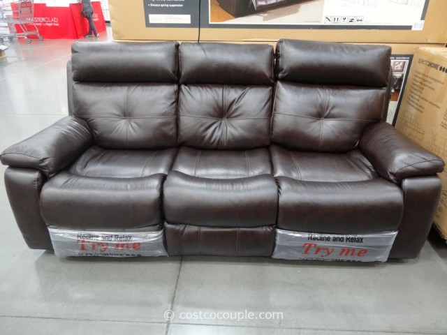 Spectra Matterhorn Leather Power Motion Sofa Costco 1