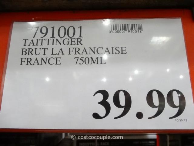 Taittinger Brut La Francaise Champagne Costco 3