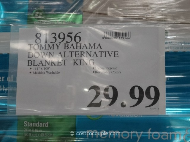 Tommy Bahama Down Alternative King Queen Blanket Costco 5