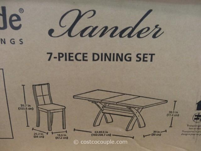 Bayside Furnishings Xander 7-Piece Dining Set Costco 4