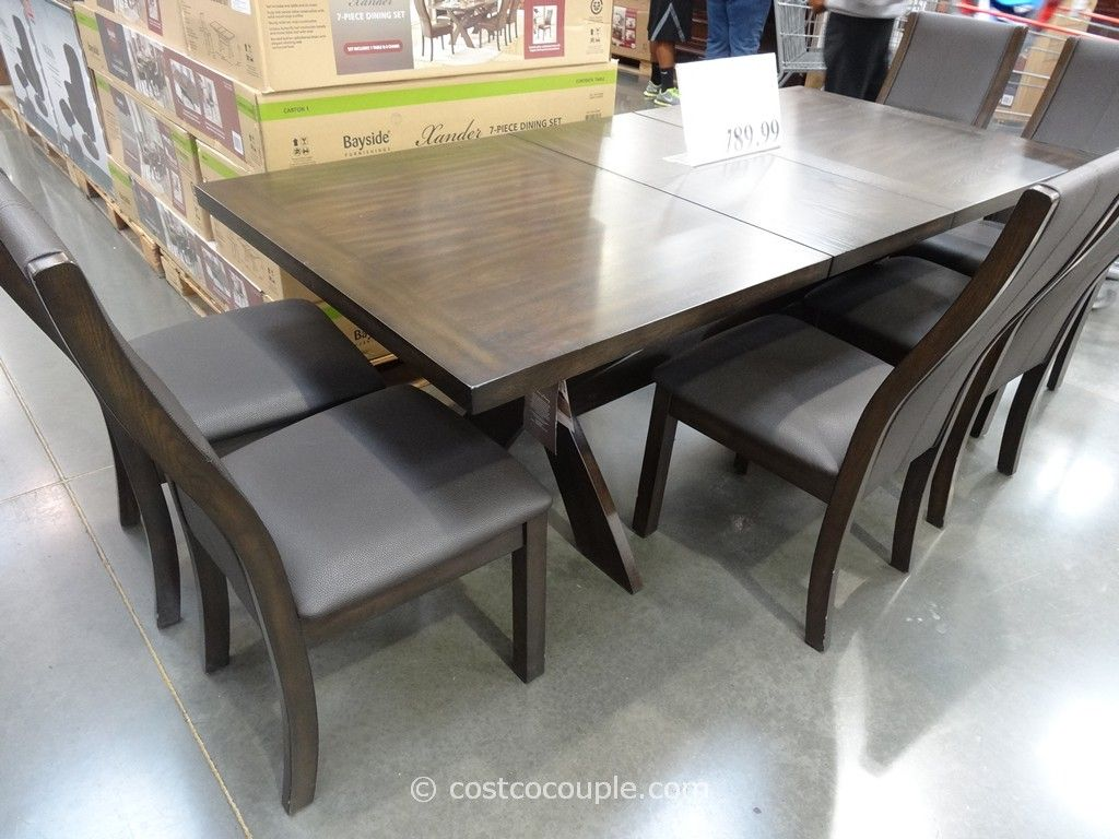 Ordinaire Bayside Furnishings Xander 7 Piece Dining Set Costco 6