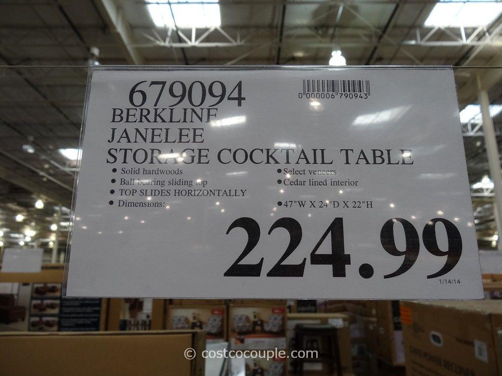 Berkline Janelee Storage Cocktail Table