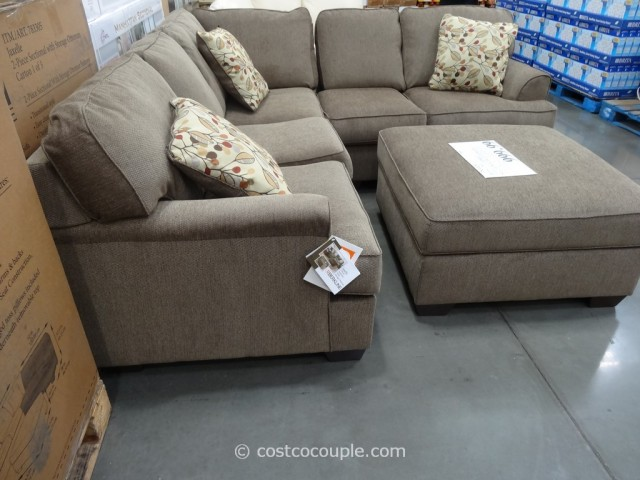 Berkline Jaxelle Fabric Sectional and Ottoman Costco 3