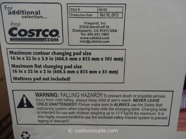 Cafe Kid Morgan Changing Table Dresser Costco 4