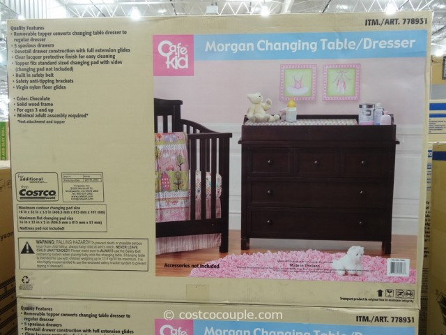 Cafe Kid Morgan Changing Table Dresser Costco 5