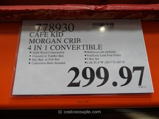 Cafe Kid Morgan Convertible 4-in-1 Crib Costco
