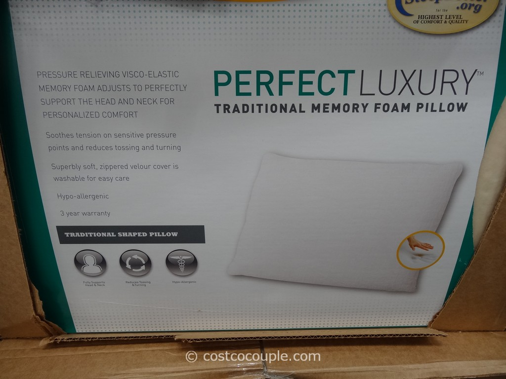 Carpenter Perfect Luxury Traditional Memory Foam Pillow Costco 2