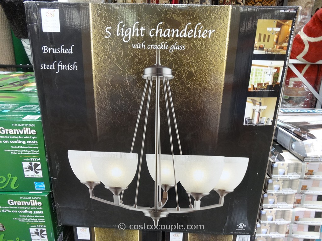 DSi 5 Light Chandelier Costco 1