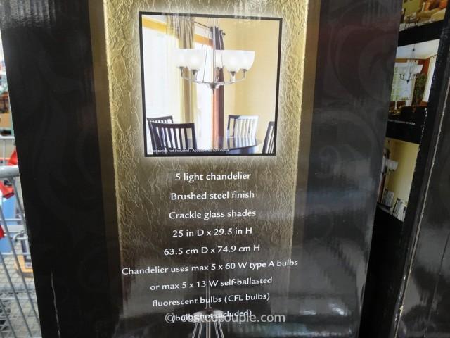 DSi 5 Light Chandelier Costco 3